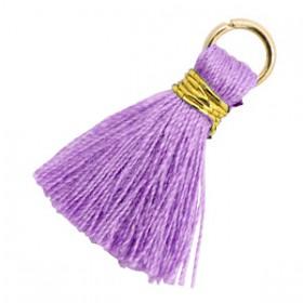 Kwastjes 1.8cm Goud Deep lavender purple