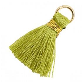 Kwastjes 1.8cm Goud Cedar green