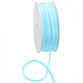 Gestikt elastische lint 5mm Light turquoise blue
