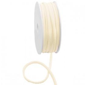 Gestikt elastische lint 5mm Silk beige