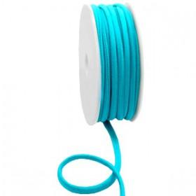 Gestikt elastische lint 5mm Blue zircon