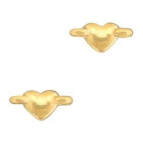 DQ metalen tussenstuk hartje Goud (nikkelvrij)