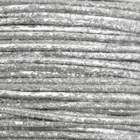 Katoen waxkoord 1.5mm metallic Carbon grey