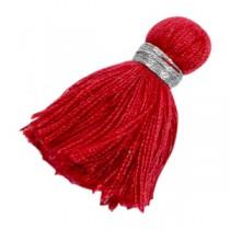 kwastjes 3.6cm Silver-yarrow red