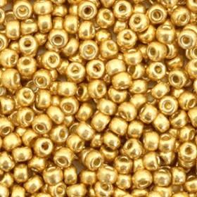Miyuki Rocailles 8/0 Duracoat galvanized gold