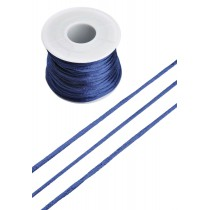 Satijnkoord 2mm Donkerblauw