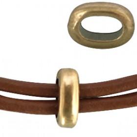 DQ metaal ovalen ring Antiek brons