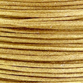 Katoen waxkoord 1mm metallic Golden brown