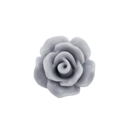 Roosjes kralen 10mm matt Grey