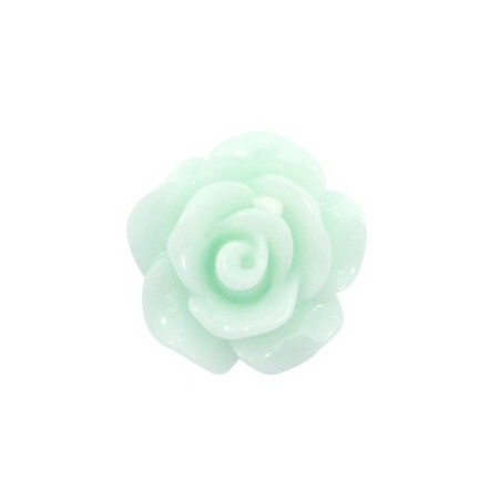 Roosjes kralen 10mm shiny Snowy mint