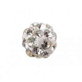 Czech rhinestone beads 6mm White crystal