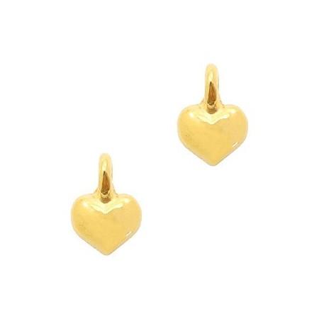 DQ metaal bedel hart Goud (nikkelvrij)