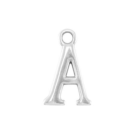 DQ letter bedel A Antiek zilver (nikkelvrij)