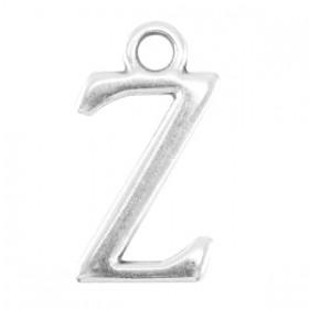 DQ letter bedel Z Antiek zilver (nikkelvrij)