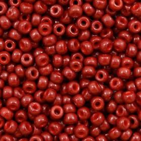 Miyuki Rocailles 8/0 Duracoat opaque jujube red