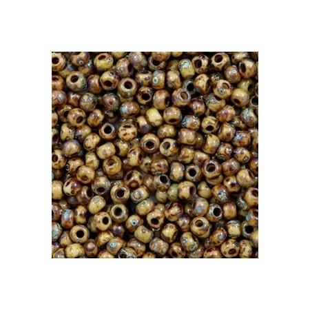 Miyuki Rocailles 8/0 Opaque picasso brown