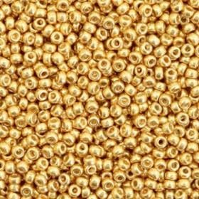 Miyuki Rocailles 11/0 Duracoat galvanized gold