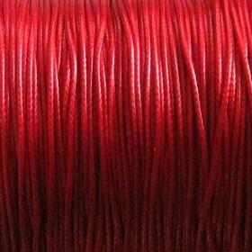 Waxkoord 1.0mm Deep rood