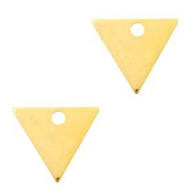 DQ metaal bedel triangle 14x12mm Goud (nikkelvrij)