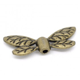 Metalen spacer brons Dragonfly wings 22x8mm