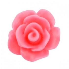 Roosjes kralen 10mm matt Rouge pink