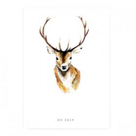 "Sieraden kaart ""oh deer"" Wit"