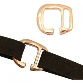 DQ metalen gesp Ø10mm Rosé goud (nikkelvrij)