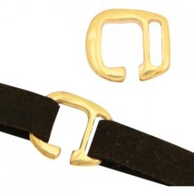 DQ metalen gesp Ø10mm Goud (nikkelvrij)
