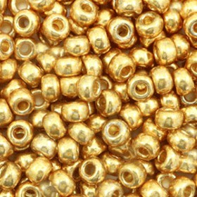 Miyuki Rocailles 6/0 Duracoat galvanized gold