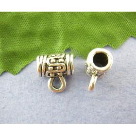 Metalen ring met oog voor 2 mm leer Antiek zilver