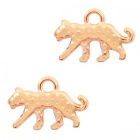 DQ bedel luipaard Rose goud (nikkelvrij)