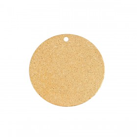 Metaal hanger rond Sparkledust  25mm gold
