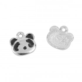 Bedeltje Panda Antiek zilver