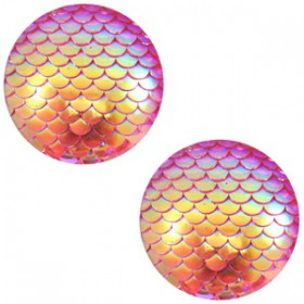 cabochon 20mm basic mermaid Pink holographic