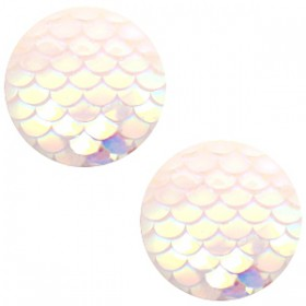 cabochon 20mm basic mermaid White holographic