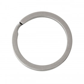 RVS Sleutelhanger ring Antiek zilver