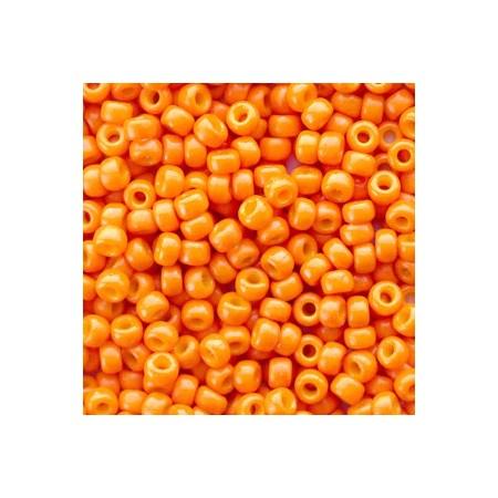 Miyuki Rocailles 8/0 Duracoat opaque kumquat orange