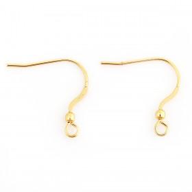 RVS oorhangers stainless steel Goud