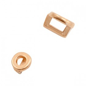 DQ metaal schuiver rond Ø3.2x1.8mm Rosé goud (nikkelvrij)