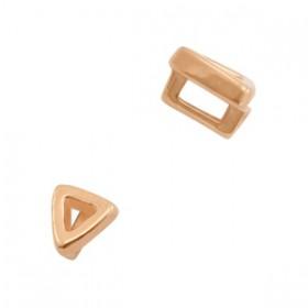 DQ metaal schuiver driehoek Ø3.2x1.8mm Rosé goud (nikkelvrij)