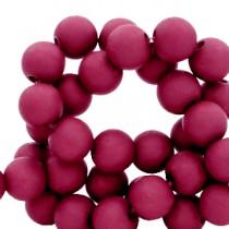 Acryl kralen mat rond 6mm Port red