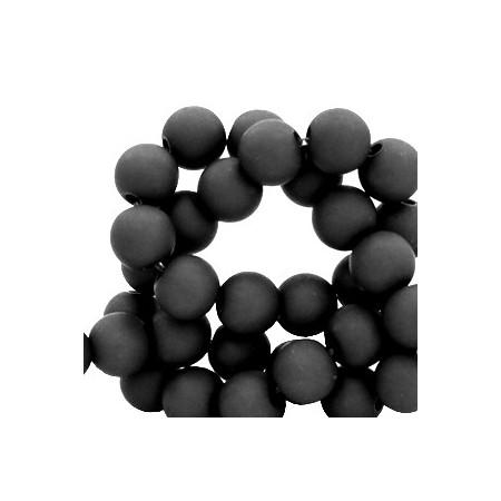 Acryl kralen mat rond 6mm Black