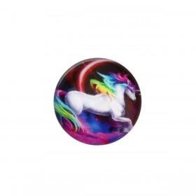 cabochon 20mm Multicolor unicorn