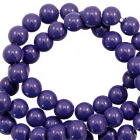 Glaskraal 6 mm opaque Crown blue