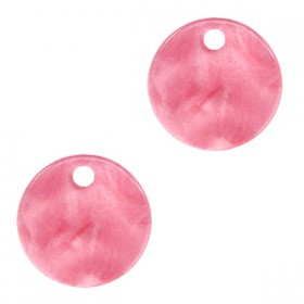 Resin hangers rond 12mm Mellow rose
