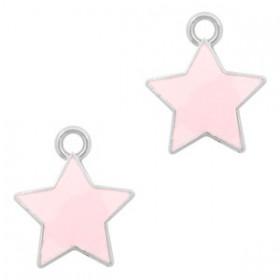 Bedeltje ster Zilver-Pink