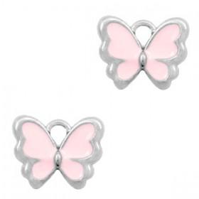 Bedeltje vlinder Zilver-Pink