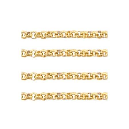 RVS Jasseron 2mm goud