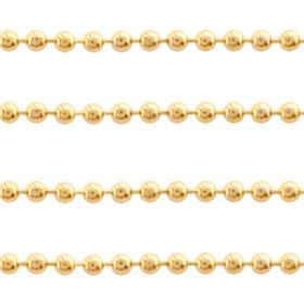 RVS ball chain 1.4mm goud