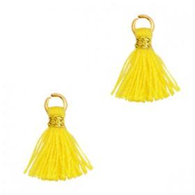 Kwastjes 1cm Goud Cyber yellow